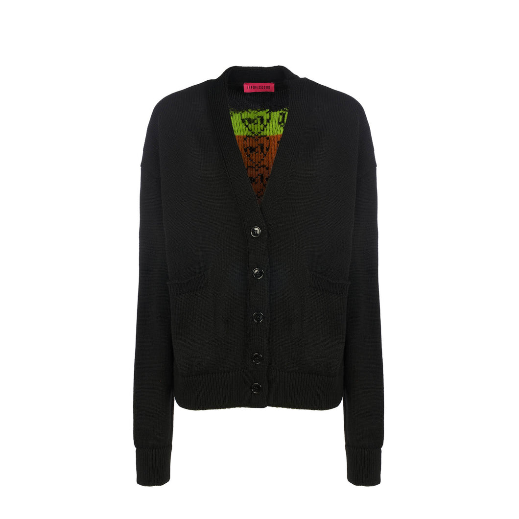 BLACK GOODFY CARDIGAN