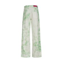 Load image into Gallery viewer, BLEACHED MINT DENIM PANTS