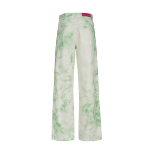BLEACHED MINT DENIM PANTS