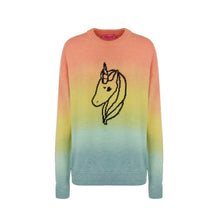 Load image into Gallery viewer, ORANGE DEGRADE UNICORN SWEATER