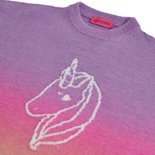 Load image into Gallery viewer, FUXIA DEGRADE UNICORN SWEATER