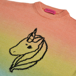 ORANGE DEGRADE UNICORN SWEATER