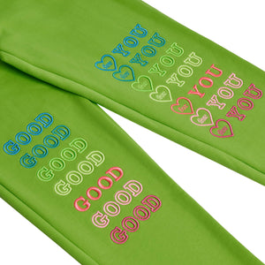 GREEN GOODFY SWEATPANTS