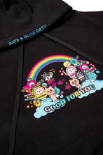 Load image into Gallery viewer, BLACK RAINBOW COLLAGE HOODIE