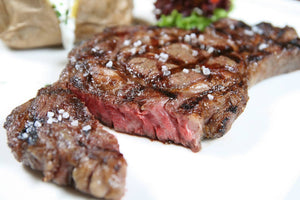 Master rib eye steak 350g in crud