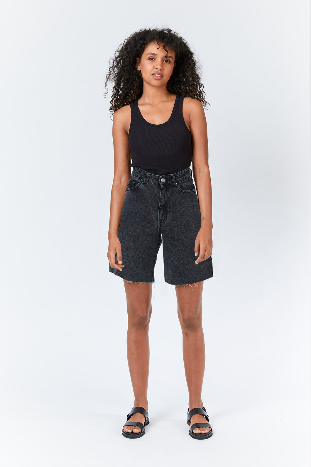 Meja Denim Shorts - Retro black