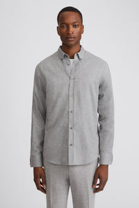 Lewis Flannel Shirt Grey