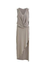 Laden Sie das Bild in den Galerie-Viewer, JAZZY Woven drape long dress grey