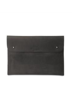 "Laptop Sleeve 11"" Black Hunter Leather"