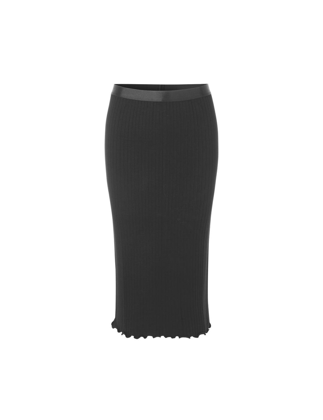 Rib Suzetta Skirt black