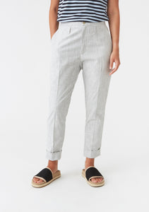 Law Trousers off white stripe