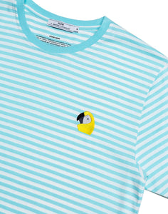 PEROQUET t-shirt blue stripes