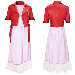 Aerith Pink Dress Costume Game Final Fantasy VII Remake Cosplay for Halloween Carnival Convention