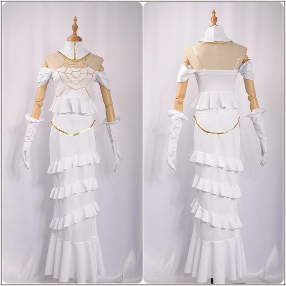 Albedo Costume White Sexy Mermaid Dress Anime Overlord Cosplay for Halloween Carnival Convention