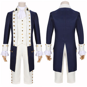 Alexander Hamilton Costume Blue Uniform Musical Hamilton Cosplay for Halloween Carnival Convention