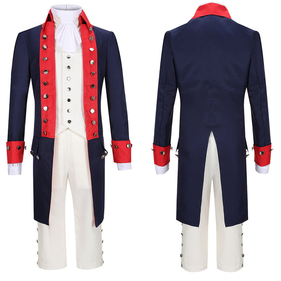 Alexander Hamilton Costume Red Uniform Musical Hamilton Cosplay for Halloween Carnival Convention