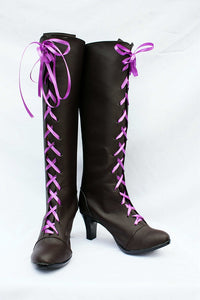 Alois Trancy Shoes Boots Anime Comics Black Butler Cosplay for Halloween Carnival Convention
