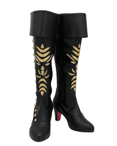 Anna Shoes Black Boots Movie Frozen 2 Cosplay for Halloween Carnival Convention