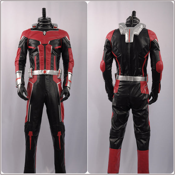 Ant-Man Scott Lang Costume Jumpsuit Movie Ant-Man the Wasp Cosplay for Halloween Carnival Convention