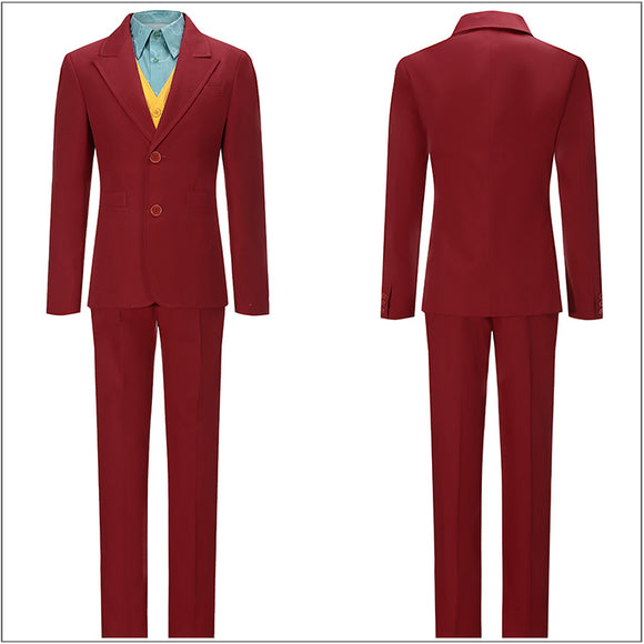 Arthur Fleck Costume Red Outfit Movie Joker 2019 Cosplay for Halloween Carnival Convention