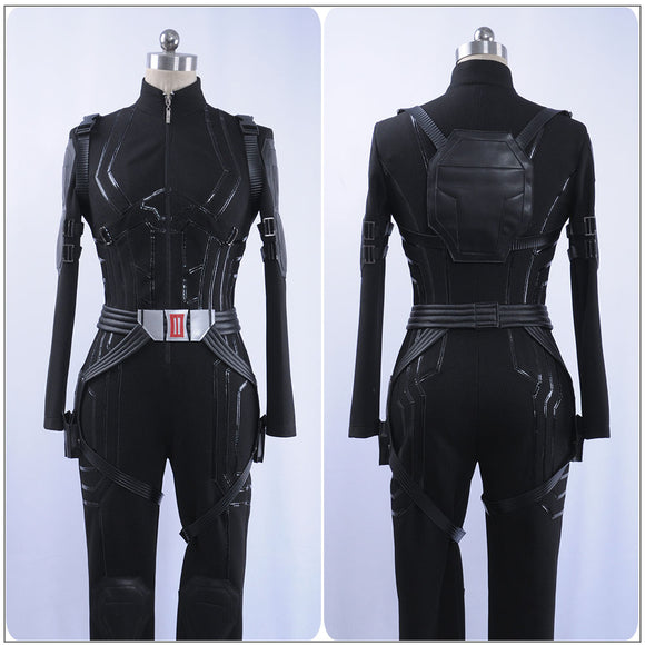 Black Widow Natasha Romanoff Costume Battle Suit Movie Avengers 4 : Endgame Cosplay for Halloween Carnival Convention