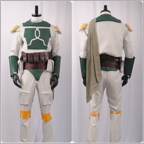 Boba Fett Costume Fighter Suit with Armor Movie Star Wars Cosplay for Halloween Carnival Convention