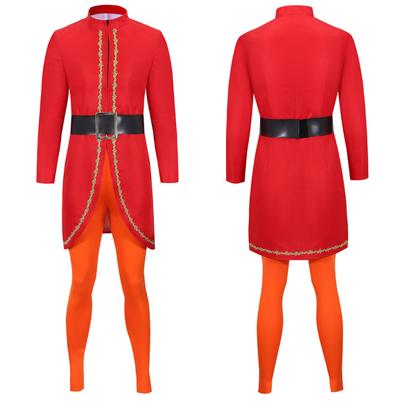 Buddy Elves Costume Red Coat Movie Elf Cosplay for Man Women Christmas Halloween Carnival Convention