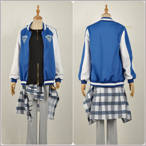 Buster Bros Yamada Nirou Jiro Costume Baseball Coat Game Hypnosis Mic Division Rap Battle Cosplay for Halloween Carnival Convention