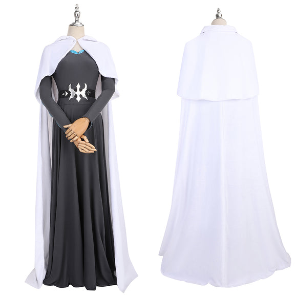 Castlevania lenore Costume Black Dress+Cloak Anime lenore Cosplay for Halloween Carnival Convention
