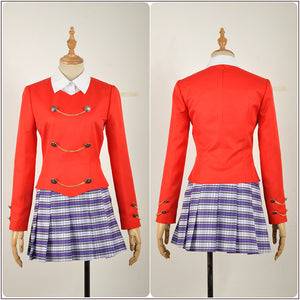 Chandle Costume Red Stage Dress Rock Musical Heathers Cosplay for Halloween Carnival Convention