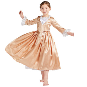 Child Version Angelica Costume Girl Dress Musical Hamilton Cosplay for Halloween Carnival Convention