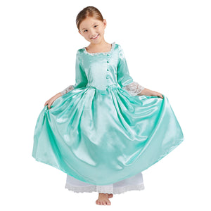 Child Version Elizabeth Schuyler Costume Girl Dress Musical Hamilton Cosplay for Halloween Carnival Convention