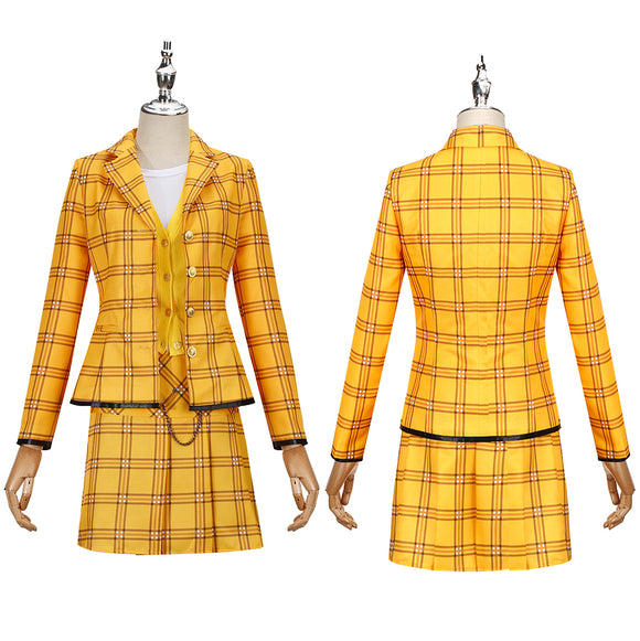 Culturenik Costume Yellow Stage Dress Movie Clueless Cosplay for Halloween Carnival Convention