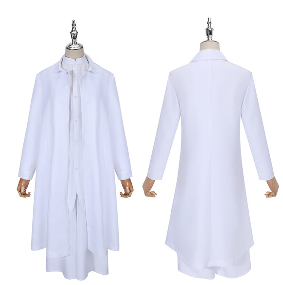 Cutthroat Satsujinki Costume White Uniform Anime Akudama Drive Cosplay for Halloween Carnival Convention
