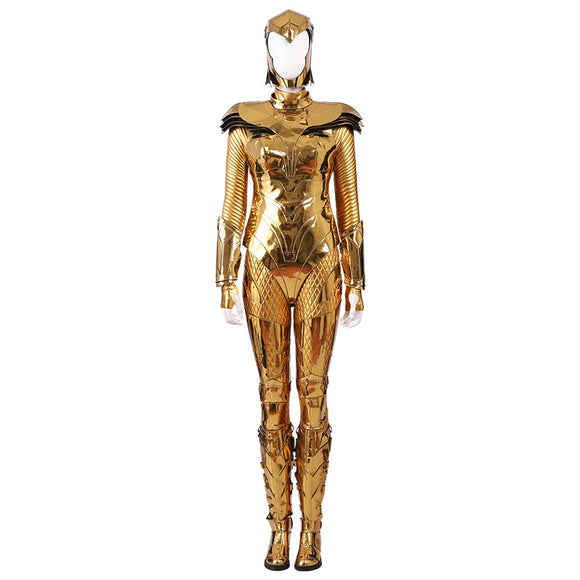 Diana Prince Golden Battle Suit Costume Movie Wonder Woman 1984 Cosplay for Halloween Carnival Convention