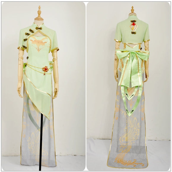 Diva Megpoid Gumi Costume TDA Cheongsam Fancy Dress Vocaloid Cos Project Cosplay for Halloween Carnival Convention