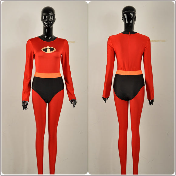 Elastigirl Helen Costume Bodysuit Movie The Incredibles 2 Cosplay for Halloween Carnival Convention