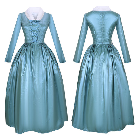 Elizabeth Schuyler Blue Dress Eliza Costume Musical Hamilton Cosplay for Halloween Carnival Convention