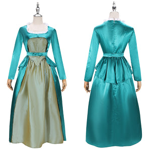 Elizabeth Schuyler Costume Eliza Green Stain Dress Musical Hamilton Cosplay for Halloween Carnival Convention