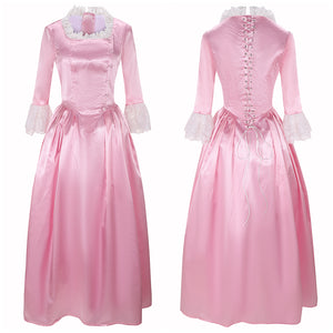 Elizabeth Schuyler Costume Eliza Light Pink Dress Musical Hamilton Cosplay for Halloween Carnival Convention