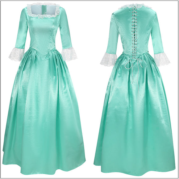 Elizabeth Schuyler Costume Eliza Classic Dress Musical Hamilton Cosplay for Halloween Carnival Convention