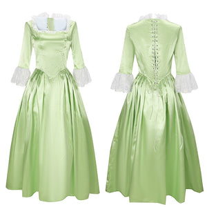 Elizabeth Schuyler Light Green Dress Eliza Costume Musical Hamilton Cosplay for Halloween Carnival Convention