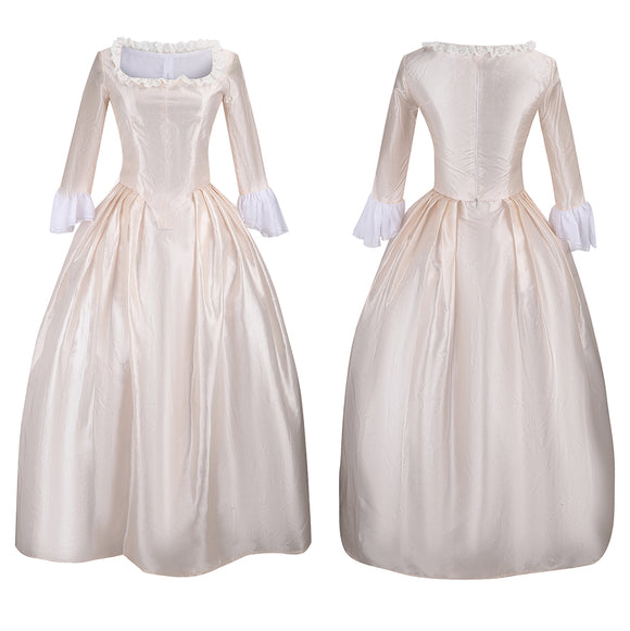 Elizabeth Schuyler White Dress Eliza Costume Musical Hamilton Cosplay for Halloween Carnival Convention