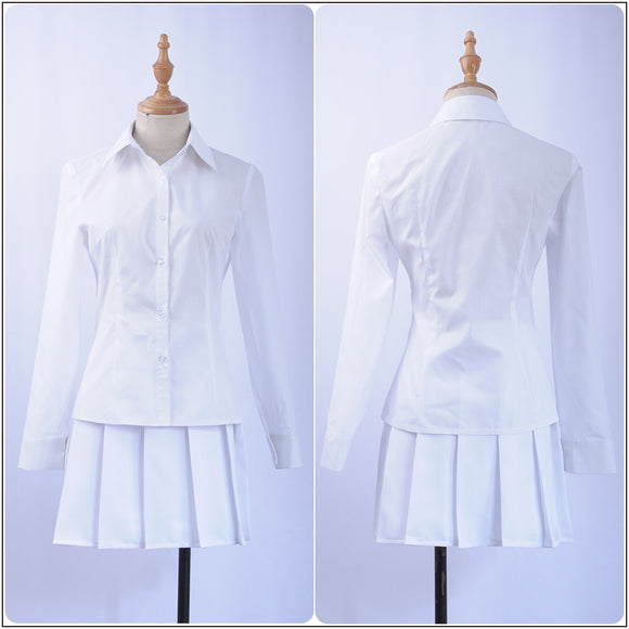 Emma Costume White Dress Anime The Promised Neverland Cosplay for Halloween Carnival Convention