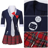 Enoshima Junko Costume 8bit Tie Game Danganronpa Cosplay for Halloween Carnival Convention