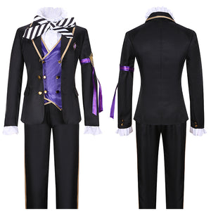Epel Felmier Costume Black Uniform Game Twisted-Wonderland Cosplay for Halloween Carnival Convention
