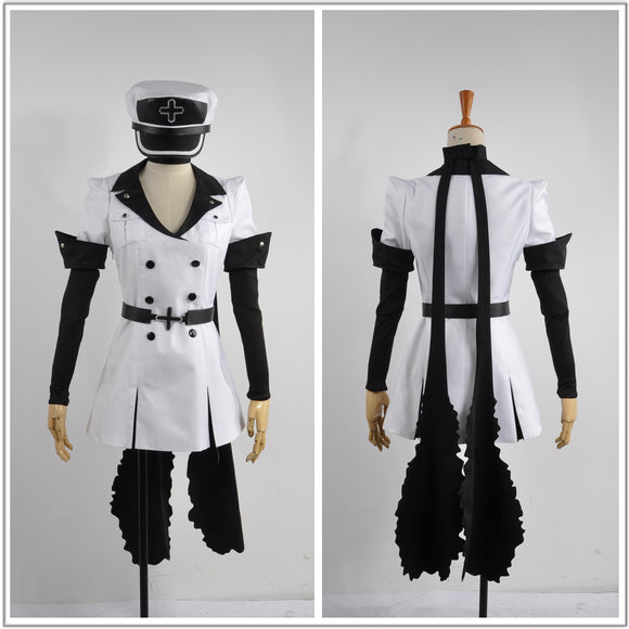 Esdeath Costume White Uniform Anime Akame ga KILL! Cosplay for Halloween Carnival Convention