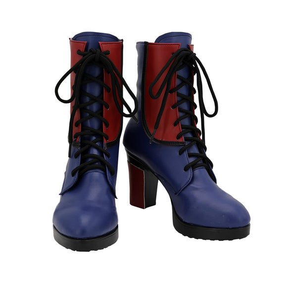Evie Shoes Boots TV Series Descendants 3 Cosplay for Adult Halloween Carnival Version C