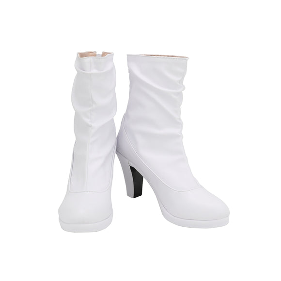 Faye Valentine White Shoes Boots Anime Cowboy Bebop Cosplay for Halloween Carnival Convention