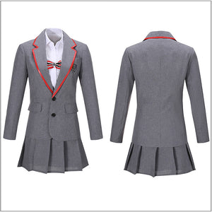 Female Gray Uniform Costume TV Series Elite Junior High School Cosplay for Halloween Carnival Convention